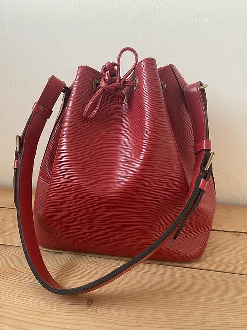 Louis Vuitton Petite Noé Bucket Bag - Red Epi Leather