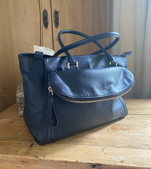 Coccinelle Leather Bag - Navy