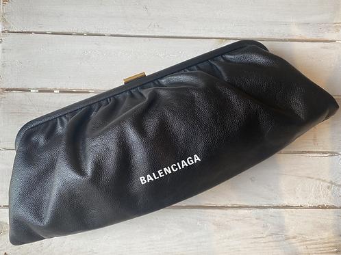 Balenciaga XL Cloud Clutch - Black