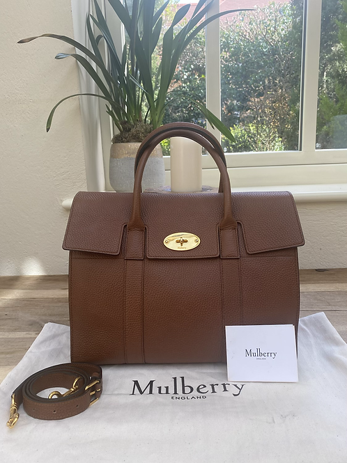 Mulberry Bayswater with Strap - Oak