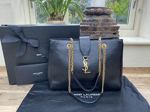 YSL Shopper Tote - Smooth Calf Leather
