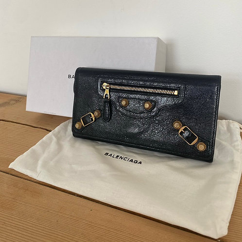 Balenciaga Agneau Wallet - Black