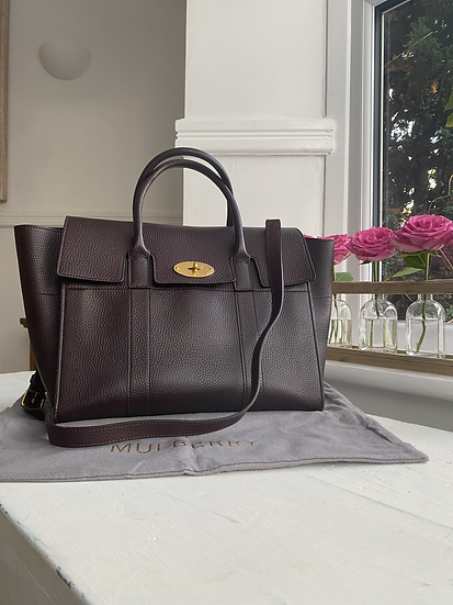 Mulberry medium Bayswater Satchel - Oxblood