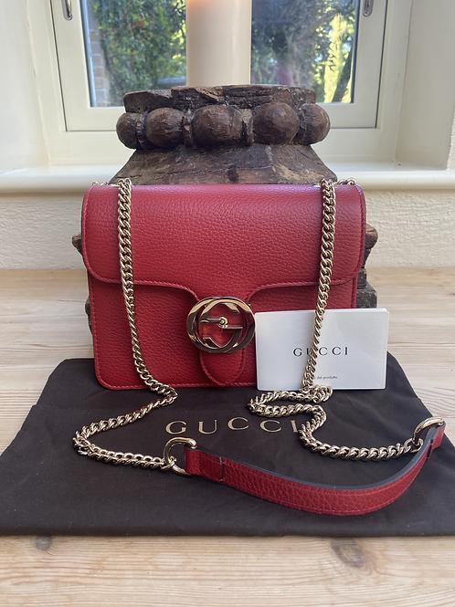 Gucci Interlocking GG Mini Bag - Red