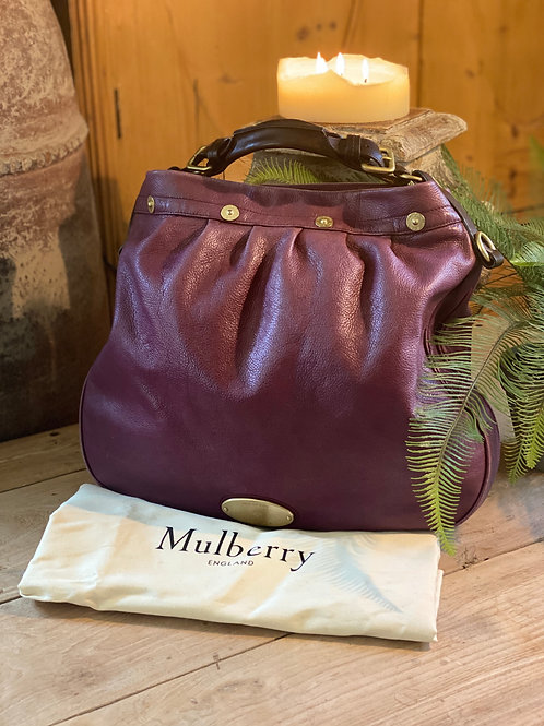 Mulberry Mitzy Hobo Tote - Plum