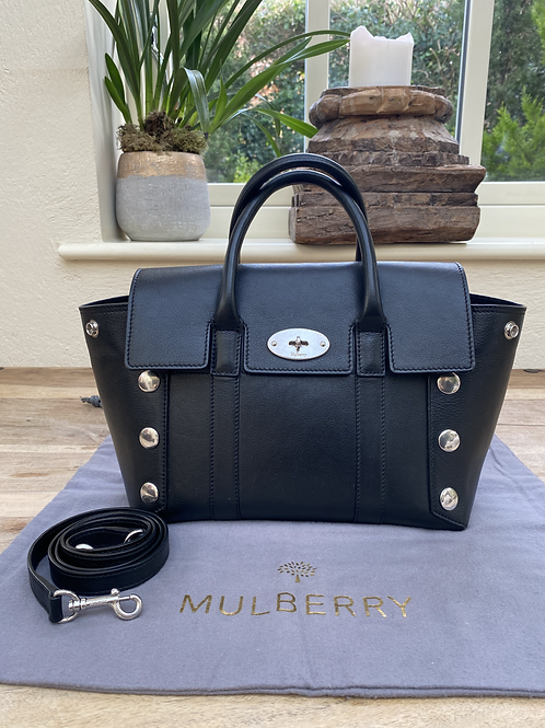 Mulberry Small Studded Bayswater - Black