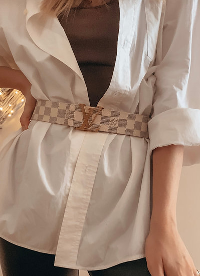 Louis Vuitton Initials Belt - Damier Azur