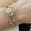 Thumbnail: Chanel Cluster Silver Tone Bracelet - Faux Pearl
