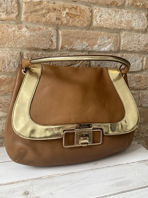 Anya Hindmarch Shoulder Bag - Tan and Gold