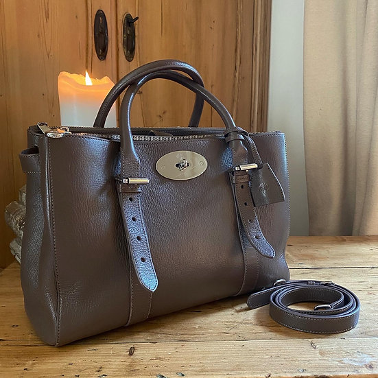 Mulberry Double Zipped Bayswater - Taupe