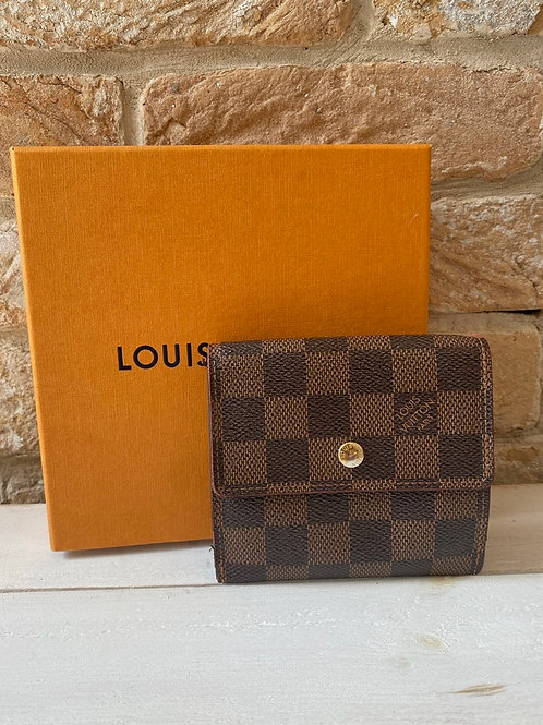Louis Vuitton Elise Wallet - Damier Ebene