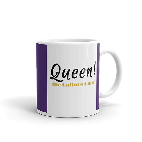 Bad & Bougee 4Real I AM QUEEN Specialty Mug Omega Purple
