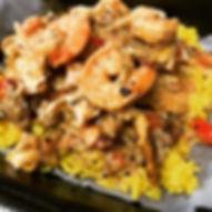 jambalaya Pasta with Yellow Rice.JPG