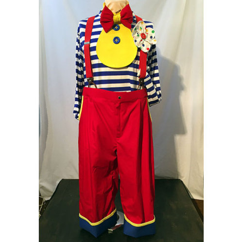Sz 48 Pleated Clown Pants Red Blue & Yellow