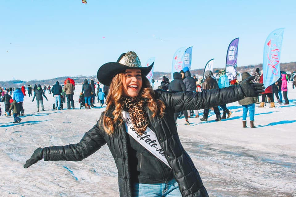 Miss Rodeo Buffalo at Kites on Ice