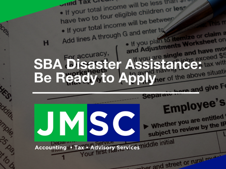SBA Disaster Assistance: Be Ready to Apply