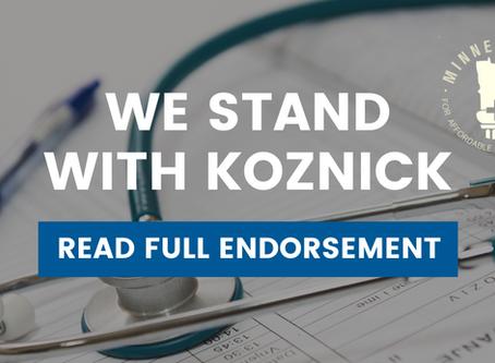 Minnesotans for Affordable Health Insurance Endorse Jon Koznick for State Representative in District
