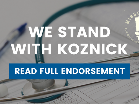 Minnesotans for Affordable Health Insurance Endorse Jon Koznick for State Representative in District