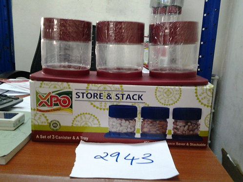 XPO STORE & STACK JARS 400 ML - XPO2943