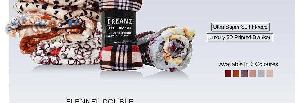 DREAMZ FLEECE BLANKET DOUBLE 220X240CM-TP4636