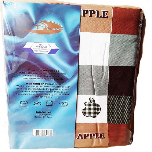 DREAMZ BED SHEET SINGLE SET (APPLE) 3136