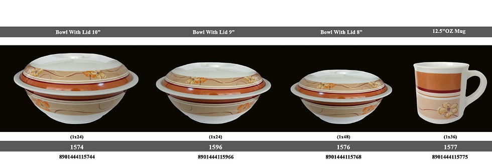 8 inch ROUND BOWL W/LID-1576 BN - XPO1576