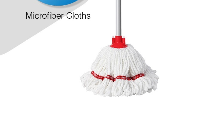 LIAO MICROFIBER ROUND MOP WITH STICK (9M) A130028