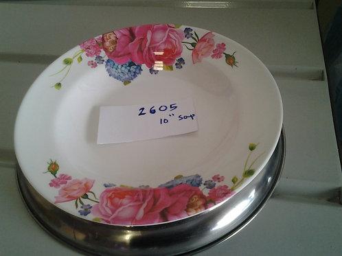 10 inch  SOUP PLATE - 2605 - FL - XPO2605