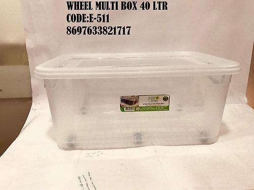 MULTI BOX 40 LTR WITH WHEEL E-511