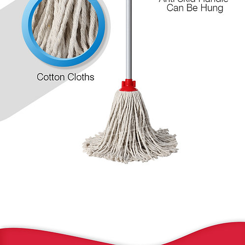 LIAO COTTON ROUND MOP WITH STICK(10M) A130063