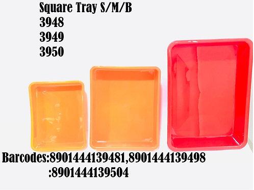 XPO PLAST SQUARE TRAY SMALL 3948