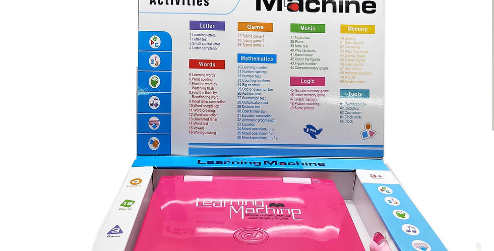 GY050625 BT-271E ENGLISH  LEARNING  MACHINE (PINK,WHITE) 65 FUNCTIONS