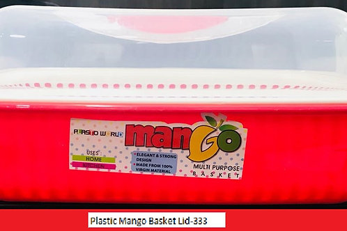PLASTIC MANGO BASKET LID-333 - XPOFH-4