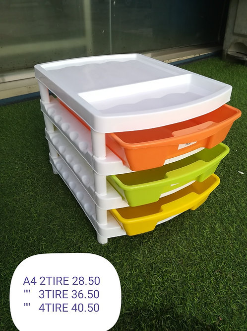 PLASTIC A-4 DRAWER-3TIER(MULTY COLOUR) - XPO154-181