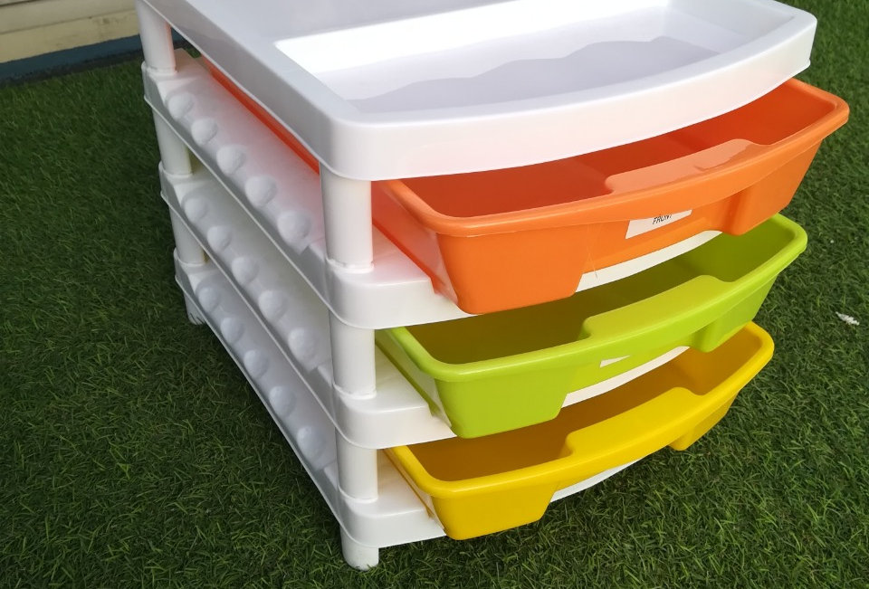 PLASTIC A-4 DRAWER 4TIER(MULTY COLOUR) - XPO182-209