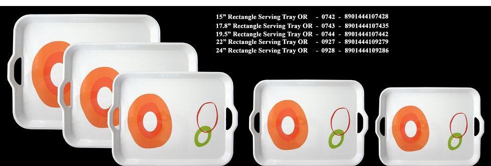19.5 inch RECTANGLE TRAY-0744 YL - XPO0744