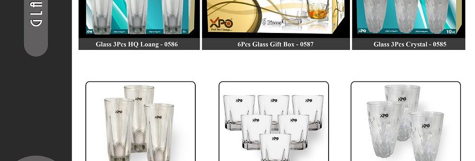 GLASS 3PCS HQ LONG - 0586 - XPO0586