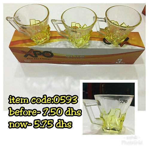 XPO 3PCE TEA CUP - 0593 - XPO0593