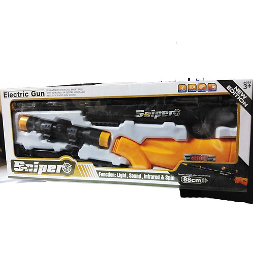GY049238 LASER ELECTRIC  GUN WITH LIGHT  MUSIC INFRARED