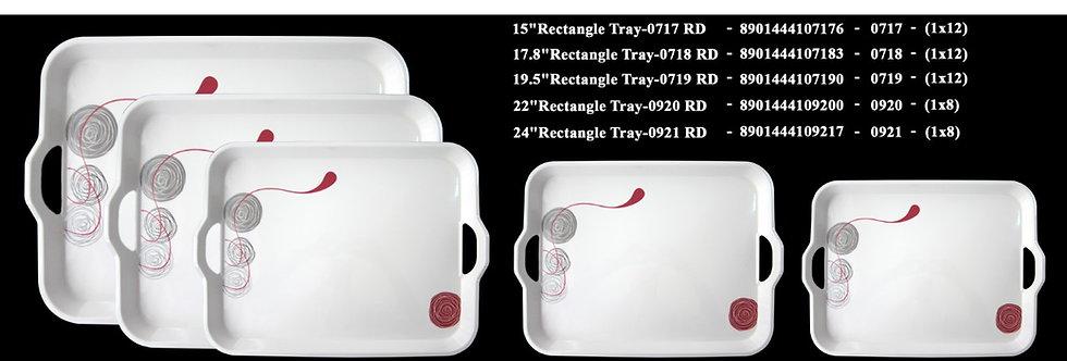 24 inch RECTANGLE TRAY BL - 0921 - XPO0921