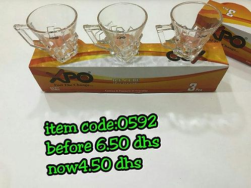 XPO 3PCE TEA CUP - 0592 - XPO0592