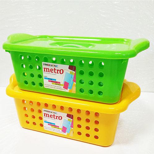 PLASTIC METRO BASKET W/LID - 333 - XPOPC121-PC1
