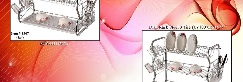 DISH RACK STEEL 3 TIRE (LY1007F)-1573 - XPO1573