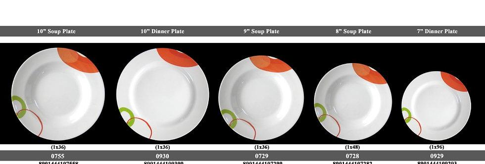 9 inch SOUP PLATE-0729 BL - XPO0729