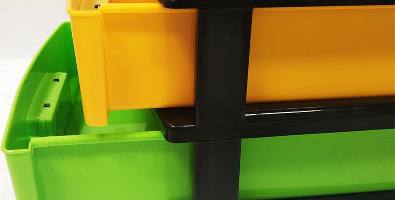 PLASTIC A-4 DRAWER-2TIER(MULTY COLOUR) - XPO136-153