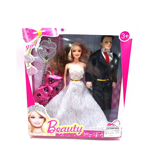 GY050654 11.5-INCH  HUSBAND AND  WIFE SET BARBIE  ACCESSORIES