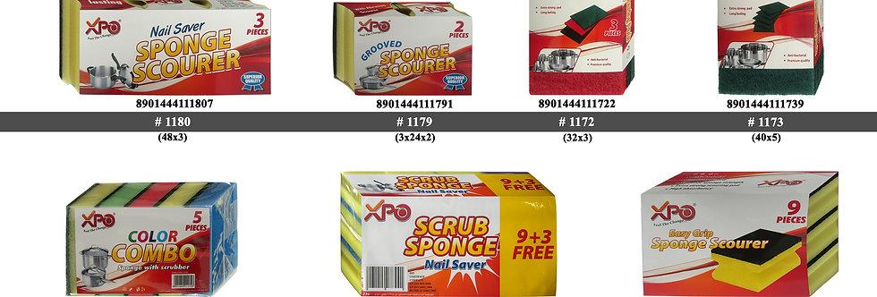 XPO HG3 SPONGE WITH SCOURER - XPO1180