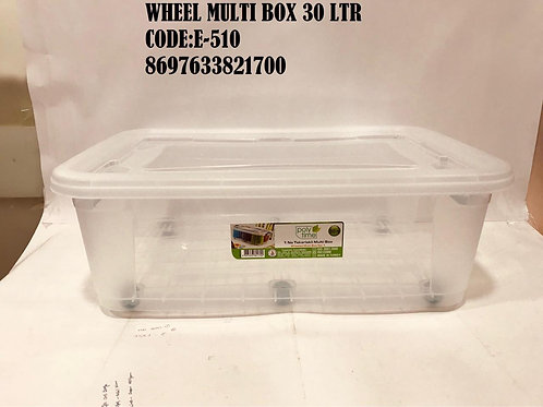 MULTI BOX 30 LTR WITH WHEEL E-510