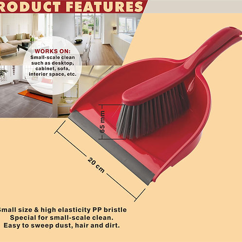 XPO LIAO DUSTPAN WITH BRUSH HQ C130011