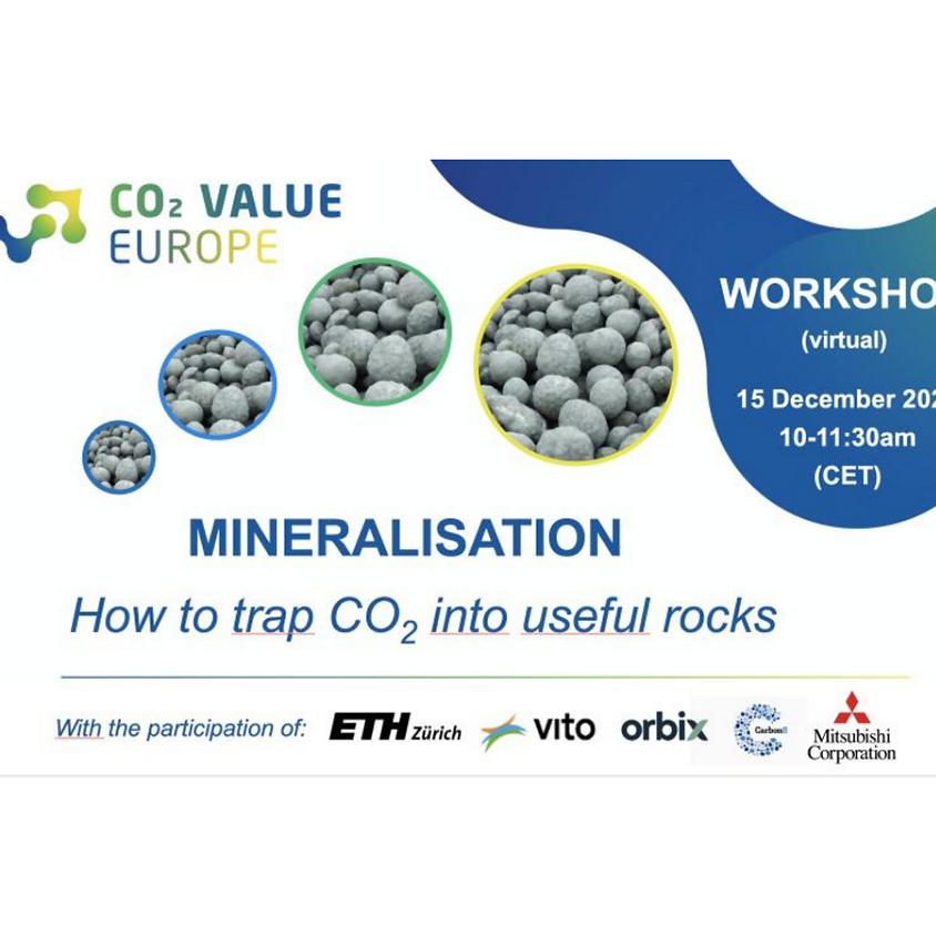 CVE Workshop on Mineralisation – How to trap CO2 into useful rocks